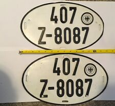 German License Plates Automobilia Transportation