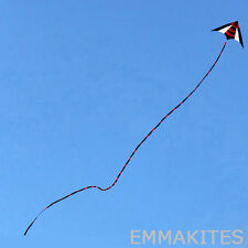 Large 30M / 98ft Black & Red Kite Tail End for Stunt Kite Delta Kites Fly Smooth
