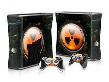 Xbox 360 slim skin Design volets Autocollant Film de protection set-Nuclear motif