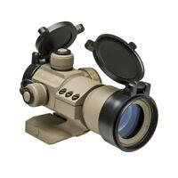 NcStar DRGB135T Tactical 35mm Red/Grn/Blue Dot Tube Reflex FDE Optic Sight TAN