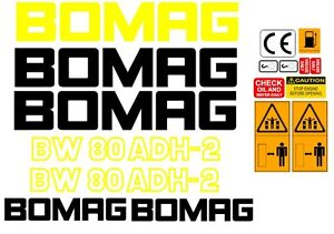 BOMAG BW80ADH-2 VIBRATING ROLLER DECALS STICKERS