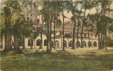 Albertype 1920s Lodge Wakulla Springs Florida hand colored Postcard 5740