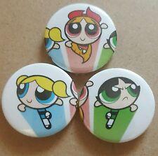Power Puff Girls Pin Back Badge Set