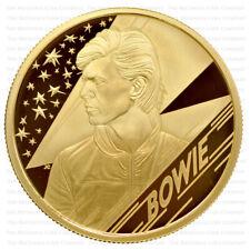 More details for 2020 royal mint music legends david bowie gold proof quarter ounce 1/4oz - boxed