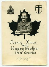 "WW2 1945 Xmas/New Year Card: ""British Empire Service League Canadian Legion"""