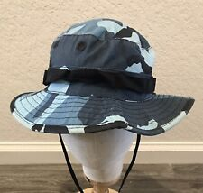 Jungle Hat Blue Camouflage With Strap Size 7 1/4