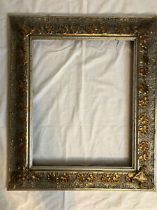 16 x 20 Gold with Rose Gold Floral Detailing - Beautiful Wooden Frame!