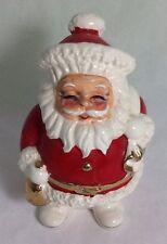 Vintage Santa Claus Christmas Figurine Ceramic Coin Bank Japan