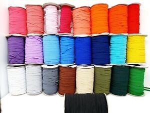 6mm Premium Flat Elastic MANY COLOURS Face masks, Sewing,Hairband,1,2,3,5,10M UK