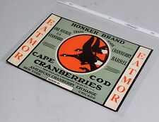 Vintage Unused Cape Cod Cranberries Honker Brand Shipping Crate Label, EXC!
