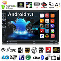 """Android 7.1 7"""" Quad Core HD 1080P 4G Double 2DIN GPS Car Radio Stereo MP5 Player"""