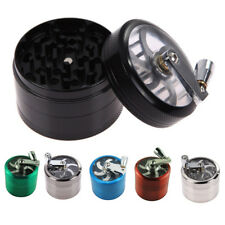 Tobacco Herb Spice Grinder 4 Part Herbal Alloy Smoke Metal Chromium Crusher USA
