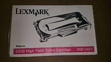 4 X Lexmark C510 Toner 20K1401 New OEM