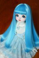 Bjd Doll Wig 1/3 8-9 Dal Pullip AOD DZ AE SD DOD/LUTS Dollfie blue Toy Hair