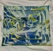 New ListingSet of 3 Decorative Art Glass Plates by Wilfredo Lam Afro-Cuban Cubist Painter
