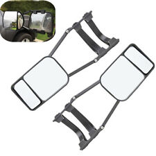 2x Black Car Truck Trailer Towing Mirror Blind Spot Adjustable Clip-on Universal