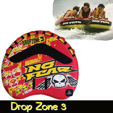 "Drop Zone 3 Person 70"" Surf Ski Tube Biscuit Inflatable Towable No Fear"
