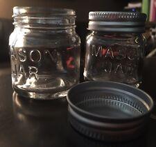 Mason Jar Small Mini Glass Spice Jars Storage  Jewelry Beads Metal Twist Top