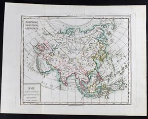 1785 - antique map D' Asia/Mentelle. Antique Map of Asia, China, Japan