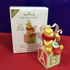 Hallmark Ornament Winnie the Pooh Baby First Christmas 2010 NEW
