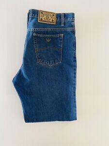 armani mens jeans W38 L33 *Hemmed* Blue Denim Jeans