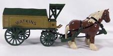 Fundraiser Ertl Horse Wagon Die-cast Metal Bank Watkins Logo Advertising New
