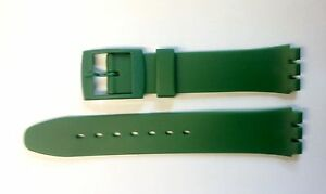 Plastic Resin Replacement Watch Strap for SWATCH -17mm - Dark Green Resin