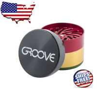 4 Piece CNC Groove dry herb Grinder+ Ships free USA