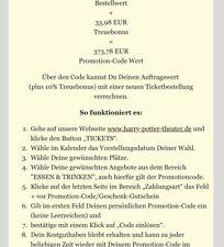 Harry Potter und das verwunschene Kind - Musical Hamburg PROMOTIONCODE