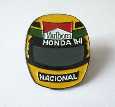 Pin's Casque F1 Ayrton SENNA / Marlboro Honda Formula One / Course Grand Prix