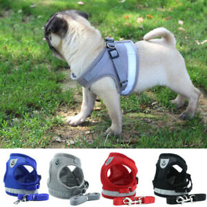 Reflective Dog Harness Leash Set Adjustable Samll Medium Dogs Vest Easy Control
