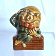 Personnage Humpty Dumpty céramique par Wade, fabriqué en Angleterre, années 70