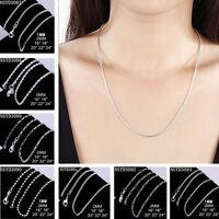 Wholesale Lots 5PCS 925 Silver 1-2MM 16-30 Inch Snake Chain Necklace Jewelry