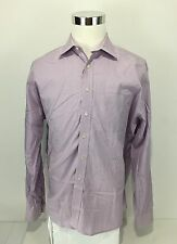 Acquaviva Men's 17 1/2 - 36/37 Dress Shirt Multicolor Purple Label Check Unique