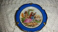 "Limoges: Miniature, Handpainted 2"" DIAMETER PLATE WITH STAND 150801013"