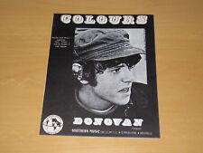 DONOVAN - COLOURS - BELGIUM / HOLLAND SHEET MUSIC
