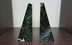 Bey Berk Black White Wedge Marble Bookends