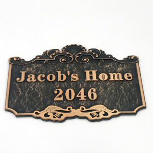 Custom House Sign Plaque Door Number Personalised Name Plate Outdoor