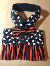 Halloween Ghost Black Orange Handmade Dog Harness Vest Costume Dress XXS 2129