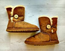 UGG BAILEY BUTTON Boots BOMBER JACKET CHESTNUT Tan Brown UK 4.5 EU 37 Genuine!