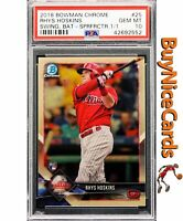 2018 Rhys Hoskins Bowman Chrome Superfractor Non Auto 1/1 RC Rookie PSA 10 Gm Mt