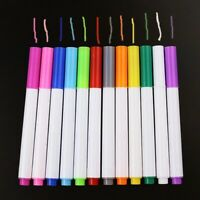 12pcs Liquid Chalk Pens Marker Colours White board Wipe Clean Red Blue White UK