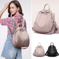 Convertible Faux Leather Backpack Rucksack Daypack Shoulder Bag Purse Hobo