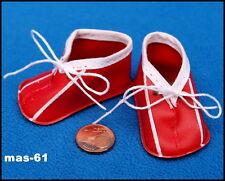 STOLLE PUPPENSCHUHE 3/35 ROT SCHUHE HALBSCHUHE PUPPE