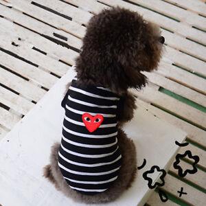 Fashion New Pet Puppy Pet Puppy Dog Cat Clothes Stripe T-shirt