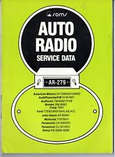 Sams Photofact-Auto Radio Manual/#AR-279/First Edition-First Print/1979