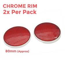 Autoadesivo Riflettore Rosso Rotondo Confezione Da 2 PEZZI Rimorchio Caravan Adesivo Posteriore
