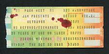 1980 Ultravox concert ticket stub Vienna Park West Chicago Rare
