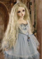 1/3 1/4 1/6 Bjd Doll Long Wig Light Blond Curly Hair For Dollfie SD LUTS AOD