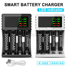 Travel Portable 4 Slots Smart Rechargeable Battery Charger For AA AAA Battery !